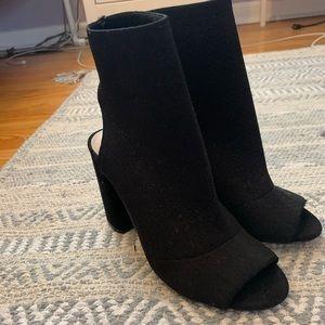 Peep toe bootie